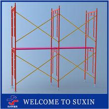 Steel walk through shoring open mobile frame scaffolding for concrete formwork