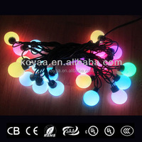 Christmas LED ball string light RGB changing color holiday lighting