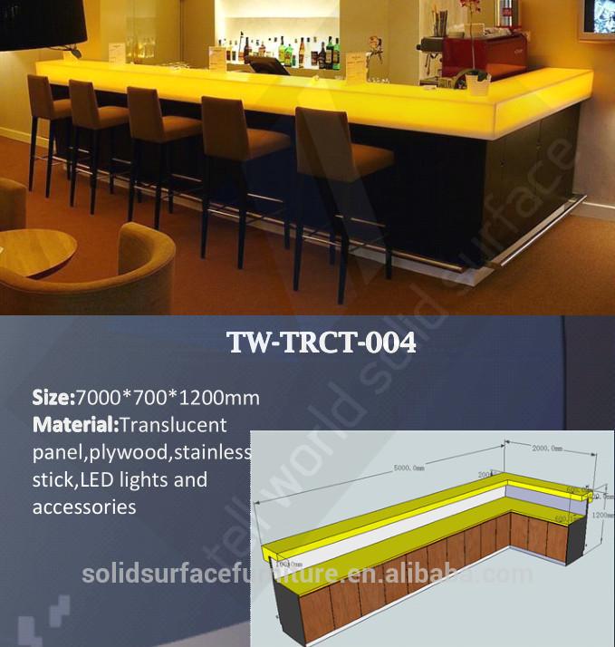verre de haute brillance comptoir de bar design meubles. Black Bedroom Furniture Sets. Home Design Ideas