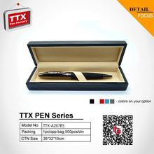 2015 Nice ball pen with gift box, business gift metal spring pen clip