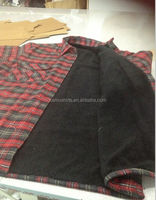 Mens quilted flannel shirts padded lining man shirt checks