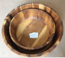 Naturally Carved manural Carved Wooden Root Barrel Washbasin