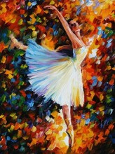 sex ballet girl dancing oil painting on canvas for home decoraion