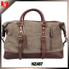 Hight quality heavyweight waxed canvas floral duffle bags overnight bag mens Military Travel Camping Canvas Duffle Bags