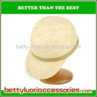 100% paper women's hat with wide brim