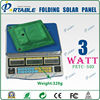 3W portable solar panel in power bank for hiking and travelling