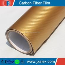 TQ-0212/120um,140g/1.52*30m/Removable Glue/Bubble Free,Hot Sale Cheap PVC Golden Carbon Fiber Fabric Rolls For Car Decoration