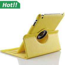 360 Rotating PU Leather Case Smart Cover For iPad Air 2