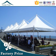 3mx3m, 4mx4m, 5mx5m, 6mx6m aluminium frame pvc fabric pagoda tents protective car shelters with galss wall for hot sale
