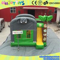 Alibaba wholesale elephant bouncy castle / elephant bounce house with slide