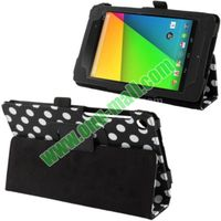 2013 Brand New Typical Dot Pattern Stand Leather Case for Google Nexus 7 2nd Generation