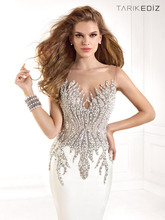 Tarik Ediz 2014 Spring Sexy Beaded Patterns simple Prom Dresses XT-641 pictures of latest gowns designs 93029
