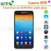 2015 Hot sale S939 Android 4.2 MT6592 Octa Core Built-in 3G 6 inch lenovo mobile phone made in China