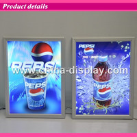 aluminum snap pop up display snap frame light box aluminium profile light boxes