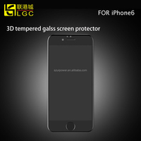 2015 New Arrival High Quality Fashion Mobile Phone 3D Curved Full Cover Screen Protector For iPhone 6