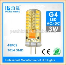 Skillful manufacture g4 12v 3w led high lumen lamps 48pcs