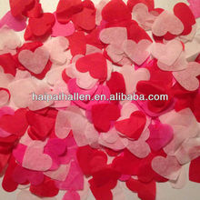 Pink and Red heart shape Tissue Paper Confetti for wedding reception
