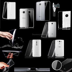 Superior quality 0.3mm Ultra Thin Slim Crystal Clear Soft TPU Case Back Cover for Samsung 7106