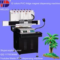 automatic colorant liquid dispenser machine for PVC fridge magnet