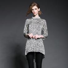 wholesale Leopard grain design and color set auger dovetail shirt