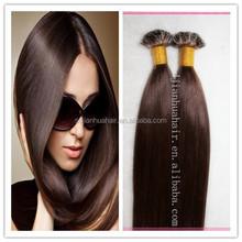 Brazilian virgin human hair u tip pre bonded fusion hair extensions