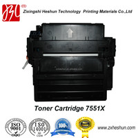 ISO9001 & ISO14001 certificated laser compatible toner cartridge for HP 7551X