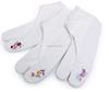 Toe Socks Nylon White custom logo grip barre embroidered stance socks
