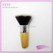 2015 New products colored make up brush cosmetic brush bamboo handle kabuki brush powder brush