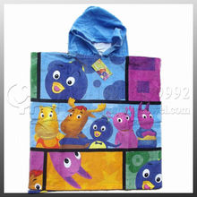 100% cotton printed promotional Hooded beach towel kids beach towels wholesale