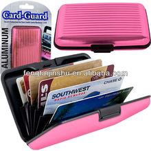 Aluminum Credit Card Wallet - RFID Blocking Case - Various Color