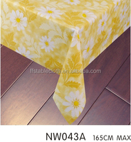 high quality beautiful sunflow pvc lace tablecloth