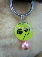 Pet collar pet id dog with custom logo printing and bell
