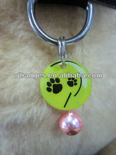 Pet collar pet id dog with custom logo printing and bell
