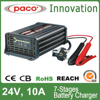 PACO battery charger 24V 10A,7 stage automatic charging, with CE,CB,RoHS certificate