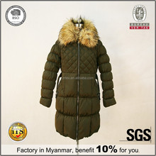 Women Padded Winter Jackets With Removable Faux Fur Hood