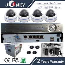 Joney 4ch NVR POE kits cctv kits & cctv System P2P IP dome 720P