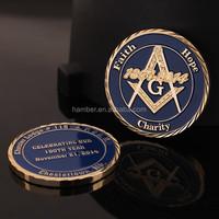 Custom Masonic gold coins with gift box
