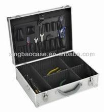 Silver aluminium tool case /attache case hard briefcase