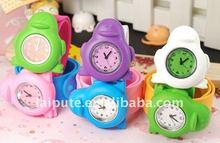 Elegante Niños Snap Watch, Juego de Animales Slap Relojes Para Niños