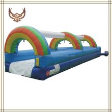 HUAYU Rainbow inflatable super slide,giant inflatable water slide,inflatable obstacle