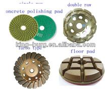 4 inch diamond polishing floor pad metal abrasive block for soft use concrete marble granite floor