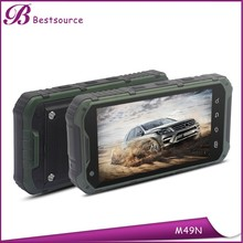 Strong 4.3 inch screen phone, ip68 military smart phone, long talk time battery mobile phone