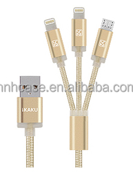 Fast Charging Nylon Braided USB Charger Cable For Iphone 5 High Speed Transmit Usb cable