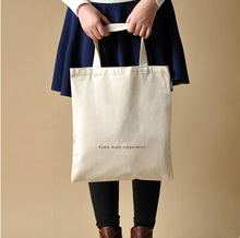 2015 Shopping Used Eco Friendly Cotton tote canvas bags for shopping