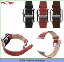 For Apple Watch Crocodile Genuine Leather Band Classic Buckle