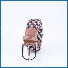 Unisex Men Stretch Braided Elastic Woven Leather Buckle Belt RD-B23