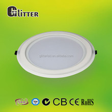 CE/ROHS cerfified round led flat panel light 180mm ,cut size 180mm ,80lm/w, ra80,AL+Glass, 5 years warranty