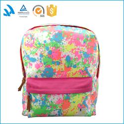 2015 fair trade famous brand cute fashion canvas school backpack