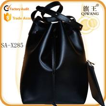 simple style bucket bag genuine leather 2015 new shoulder bag