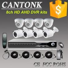 2015 alta definición P2P AHD DVR 1.4MP / 960 P dome OSD bullet AHD CCTV kit de la cámara